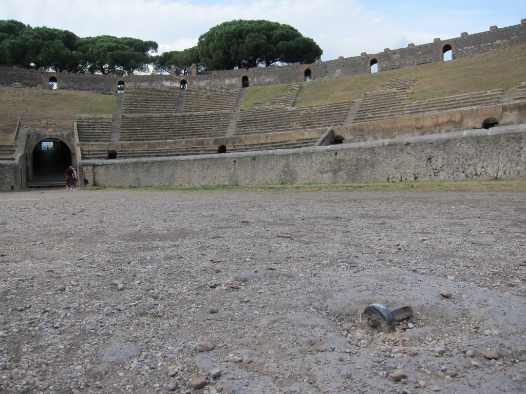 The bolt is where wild animals would get tied up in the ring before the fight